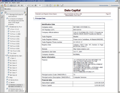 Sample Extended Land Registry Related Company Data Dato Capital Spain